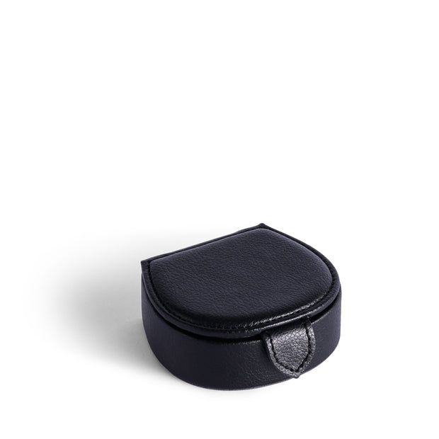 Bowery Valet Cufflink Stud Box in Black Finish