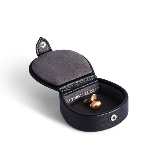 Bowery Valet Cufflink Stud Box in Black Finish by California Closets Essentials