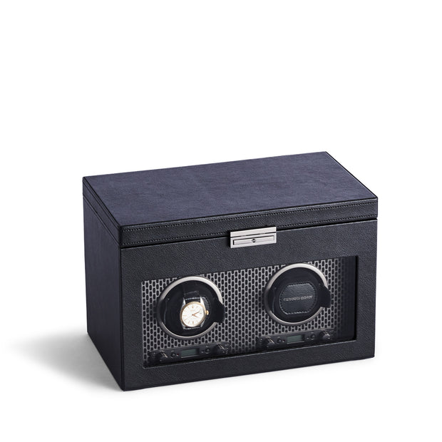 Brooklyn Double Watch Winder with Storage in Black Finish by California Closets Essentials