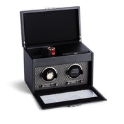 Brooklyn Double Watch Winder with Storage in Black Finish