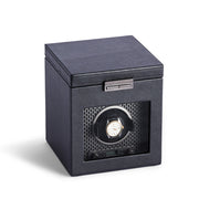 Brooklyn Single Watch Winder with Storage in Black Finish by California Closets Essentials