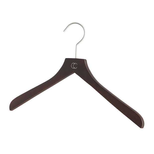 Premium Nonslip Shirt Hanger in Woodgrain Finish by California Closets Essentials