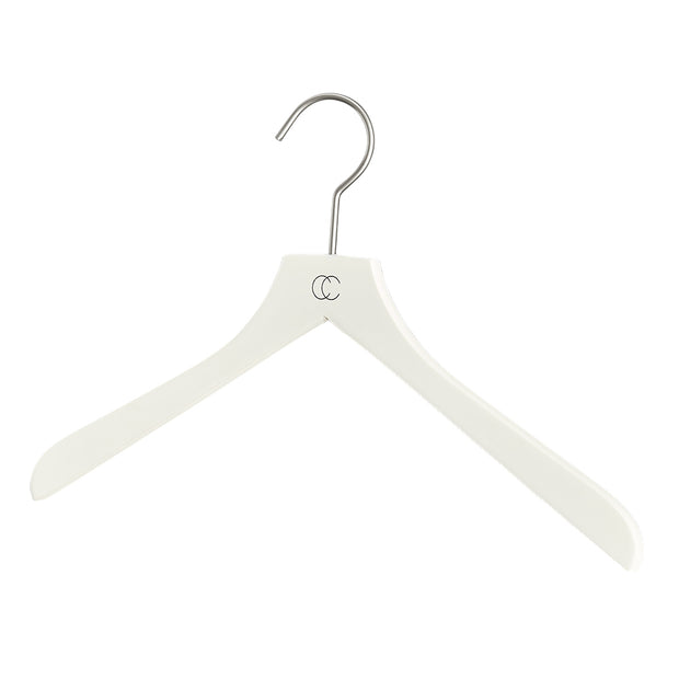 Premium Nonslip Shirt Hanger in White Finish