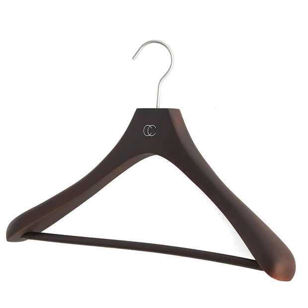 Premium Nonslip Suit Hanger in Woodgrain Finish by California Closets Essentials
