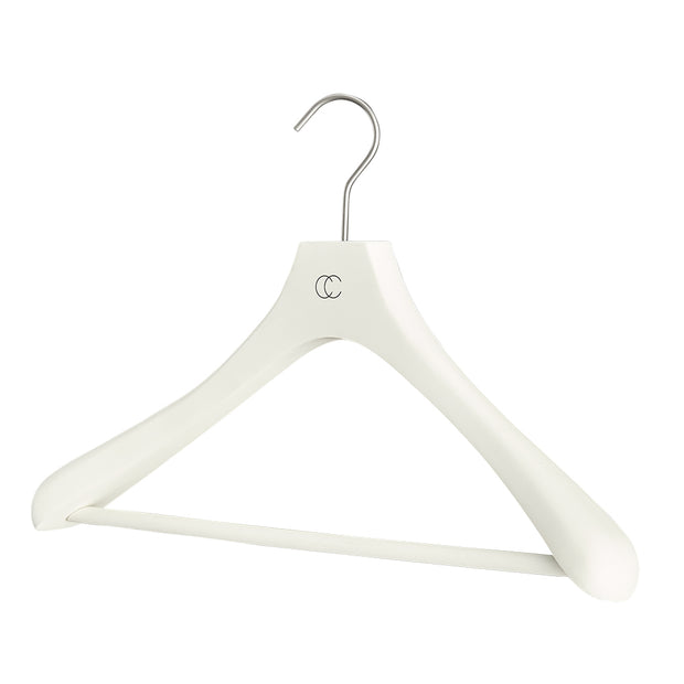 Premium Nonslip Suit Hanger in White Finish by California Closets Essentials