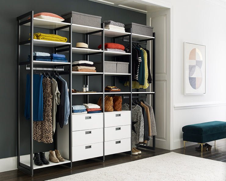 The Everyday System™ 8ft Hanging & 6 Drawer Cabinet
