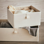 Large Grove Storage Bin in Solid Ivory Finish in Closet System