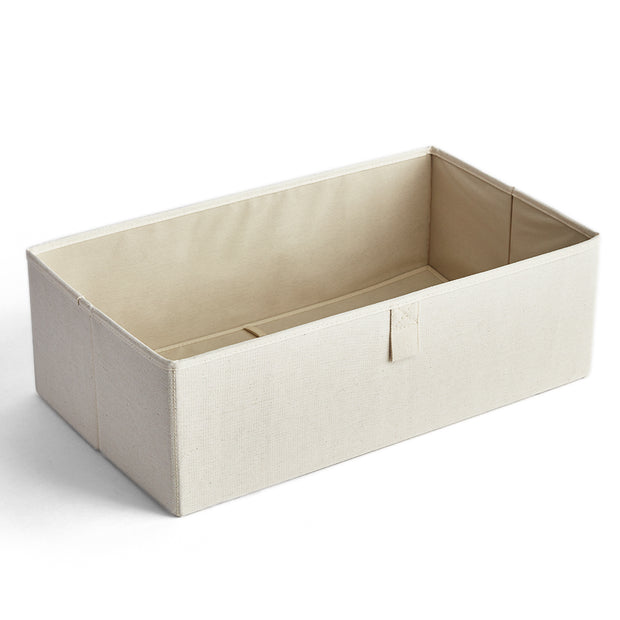 Large Grove Storage Bin in Solid Ivory Finish