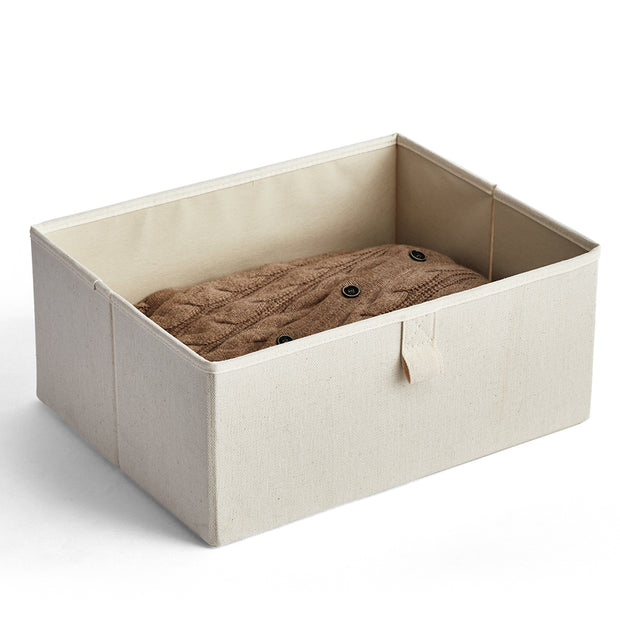 Medium Grove Storage Bin in Solid Ivory Finish by California Closets Essentials