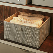 Small Grove Storage Bin in Grey Chevron Finish in Closet System