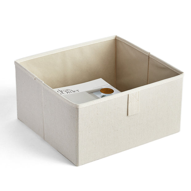 Small Grove Storage Bin in Solid Ivory Finish by California Closets Essentials