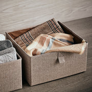 Medium Grove Storage Bin in Herringbone Finish in Closet System