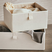Small Grove Storage Bin in Solid Ivory Finish in Closet System