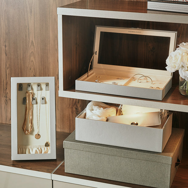4 Inch Park Stackable Tray in Dove Grey Finish in Closet System