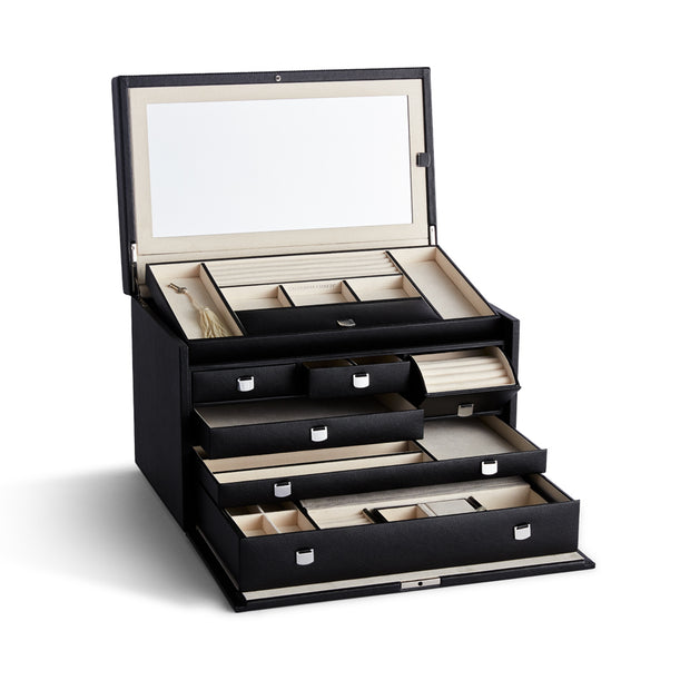Large Park Jewelry Case in Black Finish