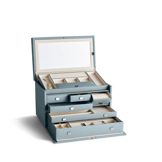 Large Park Jewelry Case in Ice Blue Finish