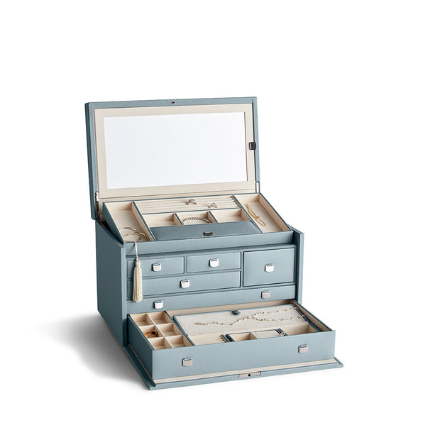 Large Park Jewelry Case in Ice Blue Finish by California Closets Essentials