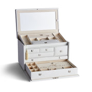 Large Park Jewelry Case in White Finish