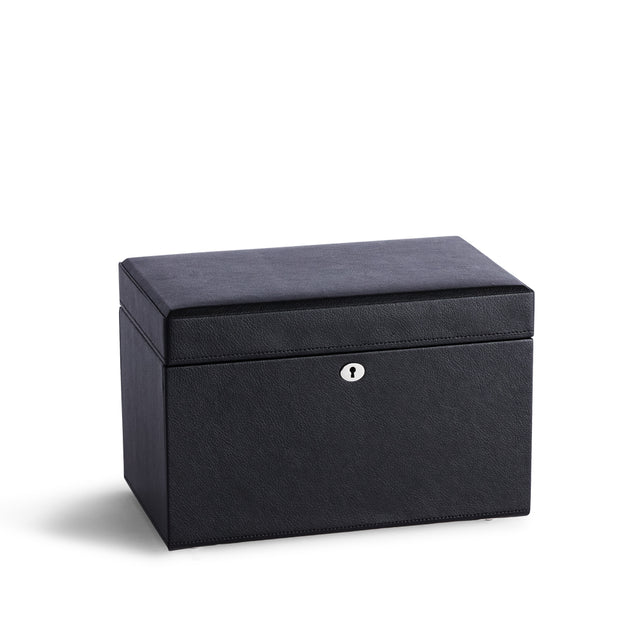 Medium Park Jewelry Case in Black Finish Closed Top