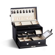Medium Park Jewelry Case in Black Finish