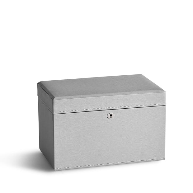 Medium Park Jewelry Case in Dove Grey Finish Closed Top