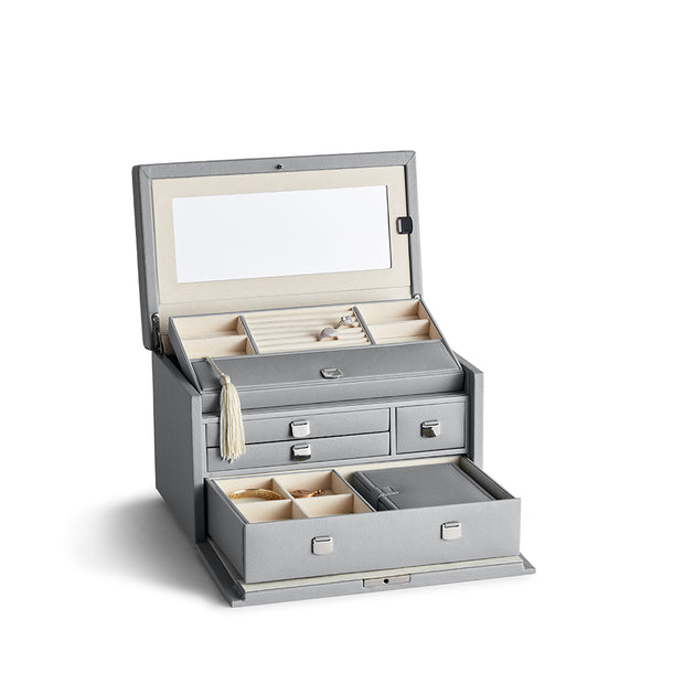Medium Park Jewelry Case in Dove Grey Finish by California Closets Essentials