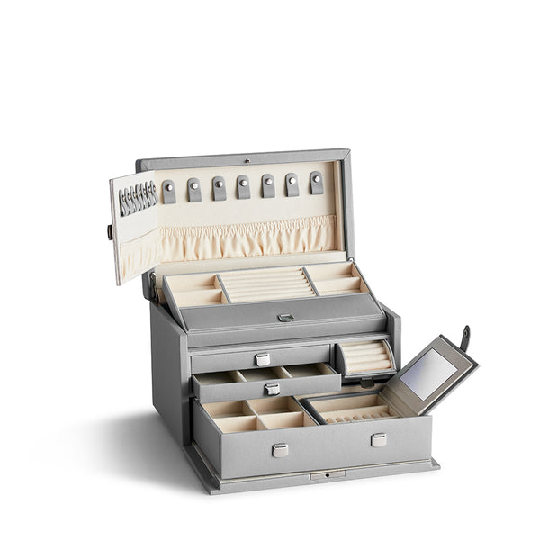 Medium Park Jewelry Case in Dove Grey Finish