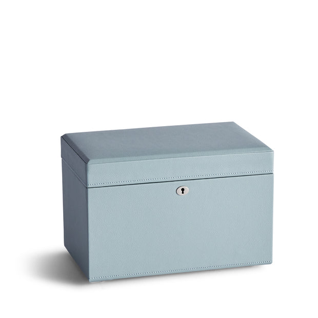 Medium Park Jewelry Case in Ice Blue Finish Closed Top