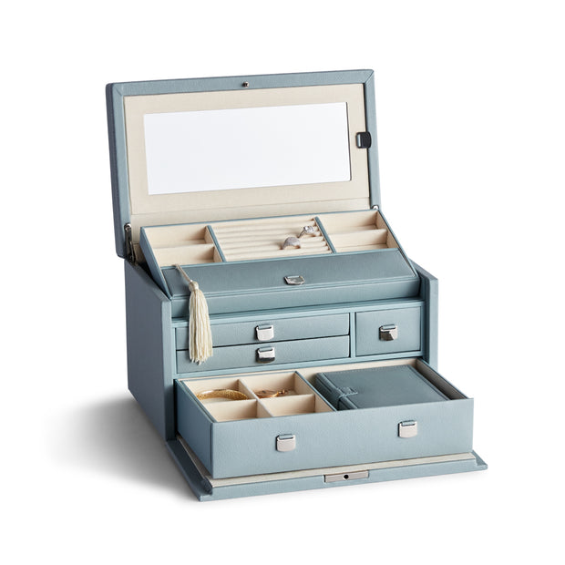 Medium Park Jewelry Case in Ice Blue Finish