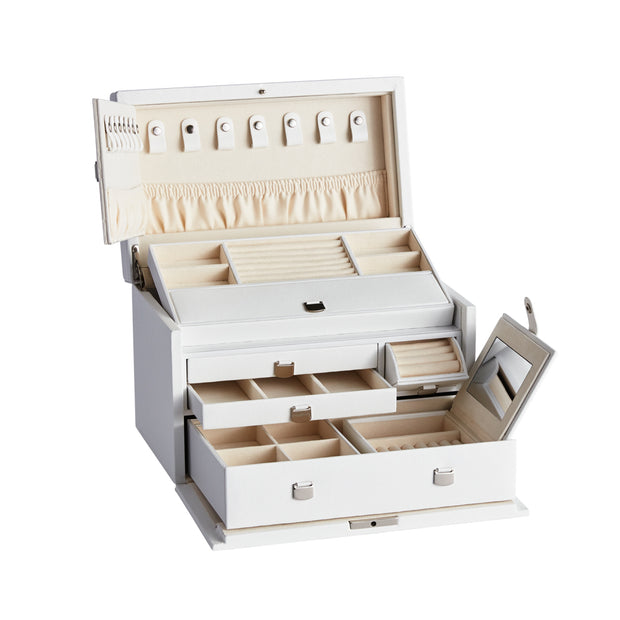Medium Park Jewelry Case in White Finish