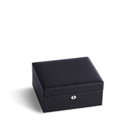 Square Park Jewelry Case in Black Finish Closed Top