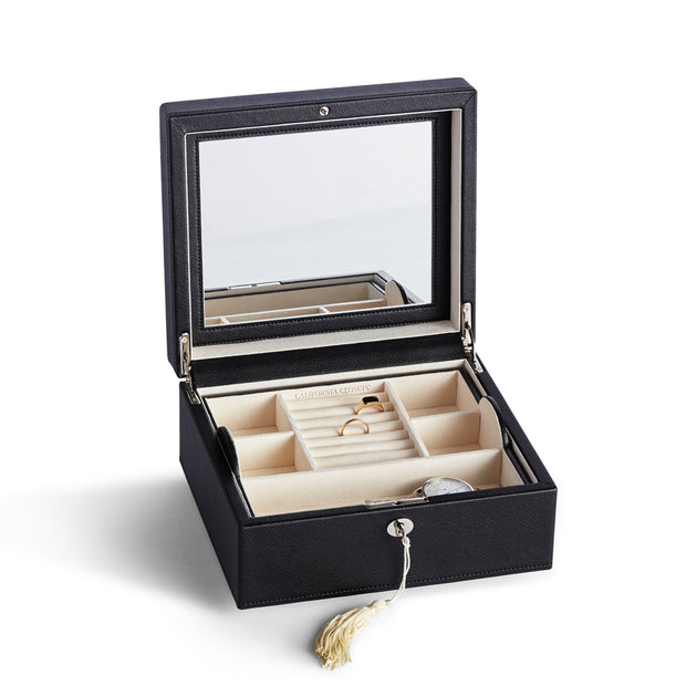 Square Park Jewelry Case in Black Finish