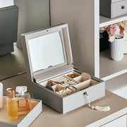 Square Park Jewelry Case in Dove Grey Finish in Closet System