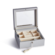 Square Park Jewelry Case in Dove Grey Finish