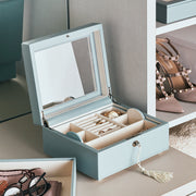 Square Park Jewelry Case in Ice Blue Finish in Closet System