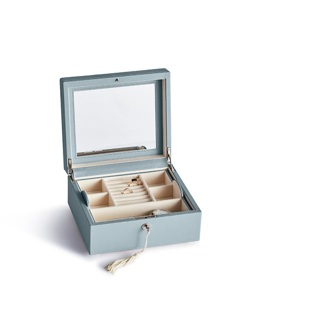 Square Park Jewelry Case in Ice Blue Finish