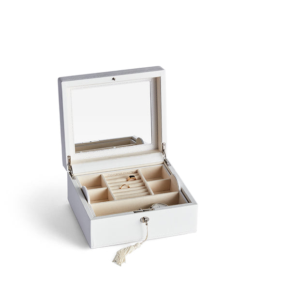 Square Park Jewelry Case in White Finish by California Closets Essentials