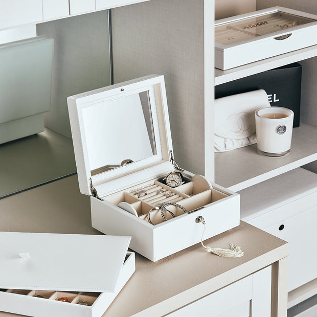Park Stackable Tray Lid in White Finish in Closet System
