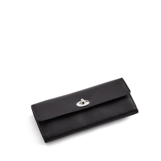Park Jewelry Roll in Black Finish Closed