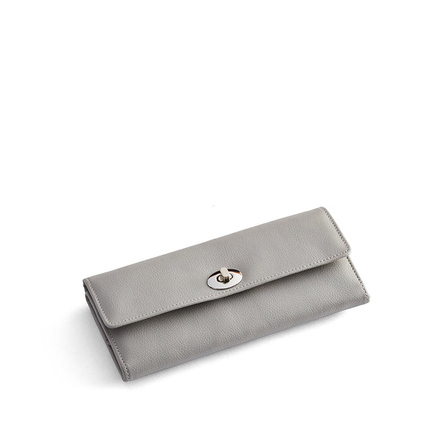 Park Jewelry Roll in Dove Grey Finish Closed