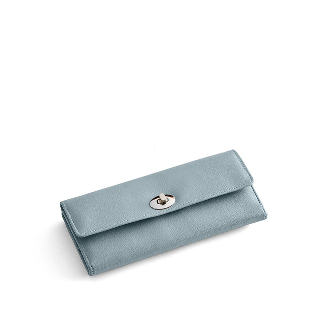 Park Jewelry Roll in Ice Blue Finish Closed