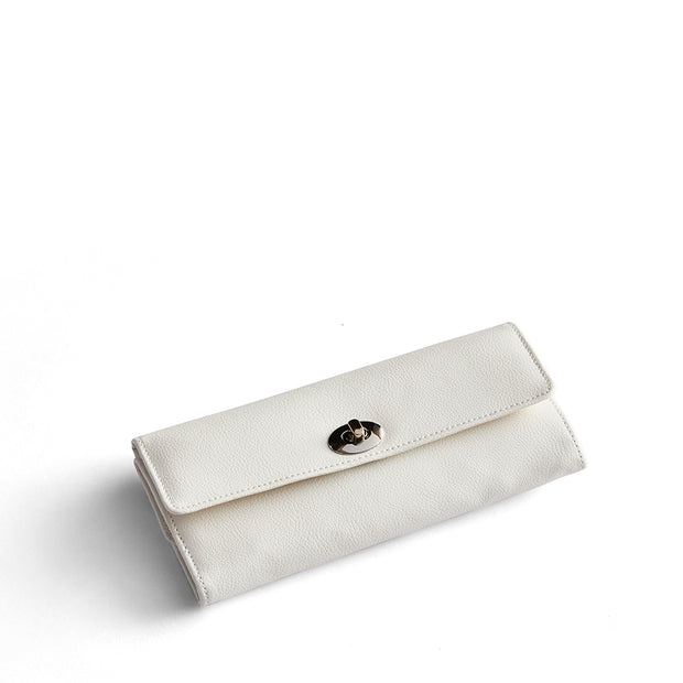 Park Jewelry Roll in White Finish Closed
