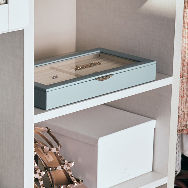 Park Jewelry Tray in Ice Blue Finish in Closet System