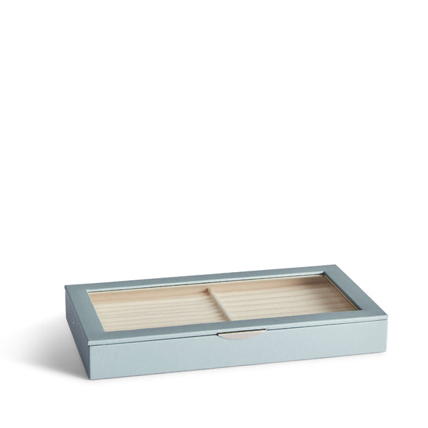 Park Jewelry Tray in Ice Blue Finish Closed Top