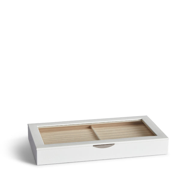 Park Jewelry Tray in White Finish Closed Top