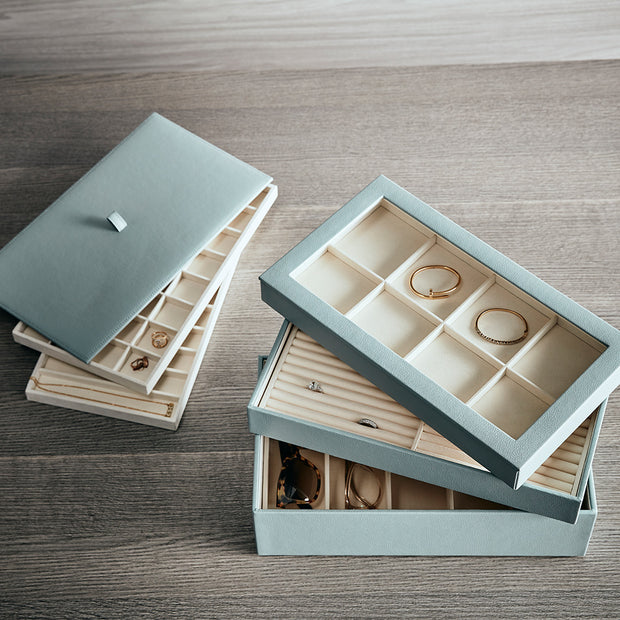 Park Stackable Ring Tray Insert in Ivory Finish in Box
