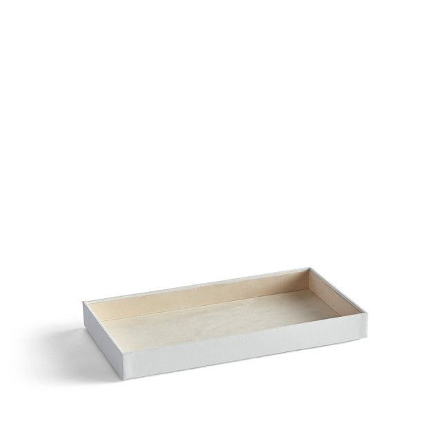 1.5 Inch Park Stackable Tray in White Finish