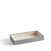 2 Inch Park Stackable Tray in Dove Grey Finish