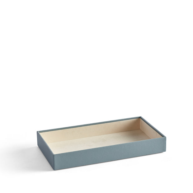 2 Inch Park Stackable Tray in Ice Blue Finish