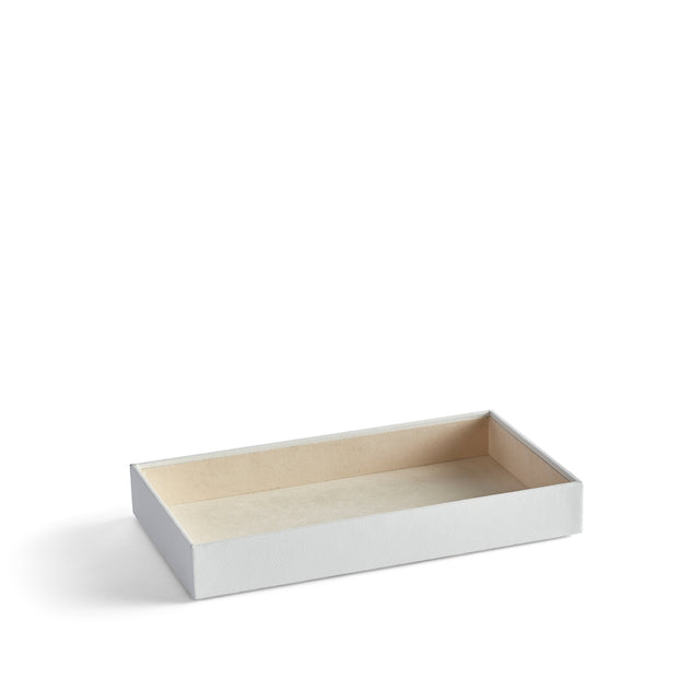2 Inch Park Stackable Tray in White Finish by California Closets Essentials